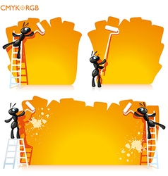 Ants Painted Banner vector image