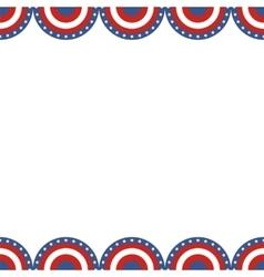 Border of American flag vector image