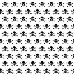 Crossbones and skull pattern vector image