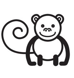 Cute animal monkey - vector image