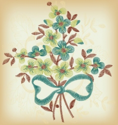 decorative flower vector image vector image