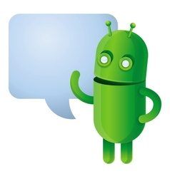 Funny green robot - vector image