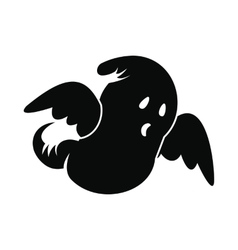 Ghost icon black vector image vector image