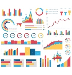 Set for infographics various design elements vector image vector image