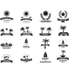 Summer emblem collection vector image vector image