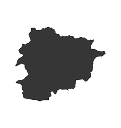 Andorra map silhouette vector image vector image