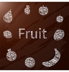 chalk fruit vector image vector image