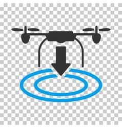 Drone Landing Icon vector image