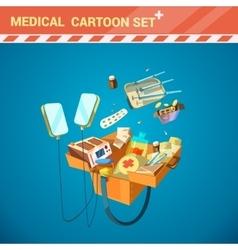 Hospital Equipment Cartoon Set vector image vector image