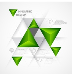 Infographics with a 3d arrow vector image