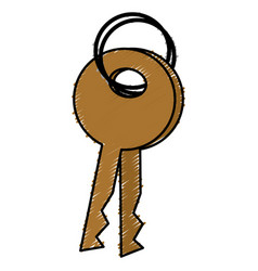 key door isolated icon vector image
