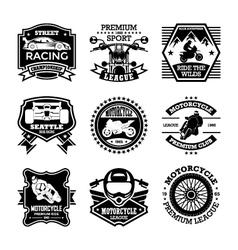 Motor Sport Badges vector image