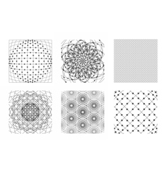 Sacred geometry background set vector