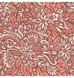 Autumn flowers Seamless decorative pattern vector image