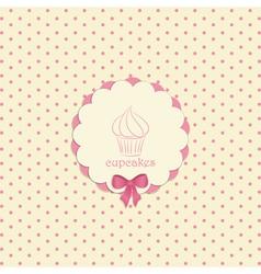 cupcake label vector image vector image