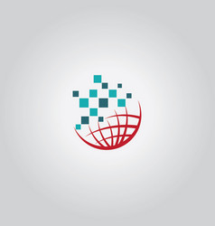 Globe tech logo vector