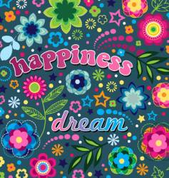 happiness and dream vector image vector image