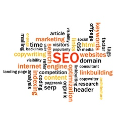 Search engine optimization abstract image vector