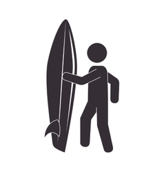 silhouette surfer surfing table sport vector image vector image