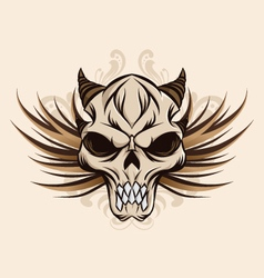 skull-and-wings vector image vector image