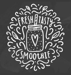 fresh tasty smoothie vector image