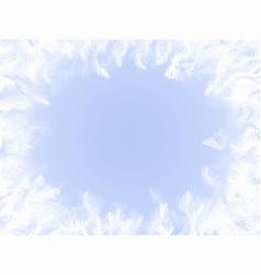 frozen window ornament vector image vector image