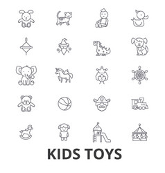 kids toys playing baby toy children toy kids vector image vector image