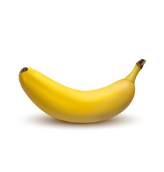 3d banana isolated on a white background vector image