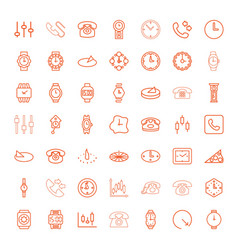 49 dial icons vector image