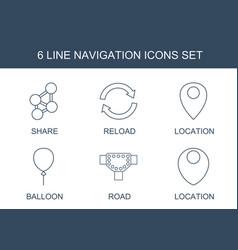 6 navigation icons vector