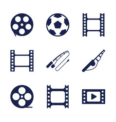 9 reel icons vector