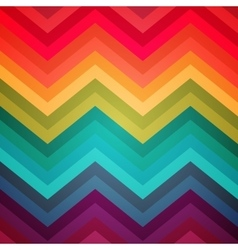 Abstract rainbow zig-zag warped stripes ethnic vector