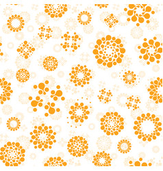 abstract sunny seamless circles design pattern vector image