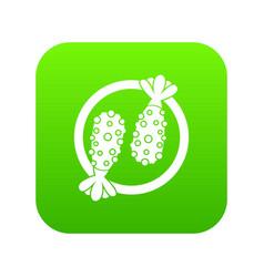 Asian food icon digital green vector