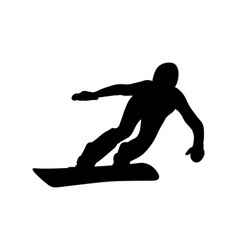 athlete snowboarder downhill vector image