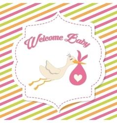 Baby Shower stork Pastel design graphic vector image