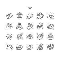 bakery well-crafted pixel perfect thin line vector image