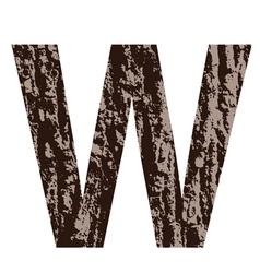 Bark letter W vector