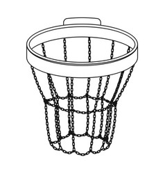 basketball hoopbasketball single icon in outline vector image