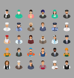 big set of people avatars with different vector image