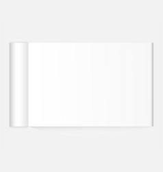 blank open magazine with rolled page vector image
