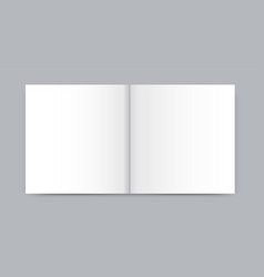 Blank white newspaper mock up isolated on gray vector