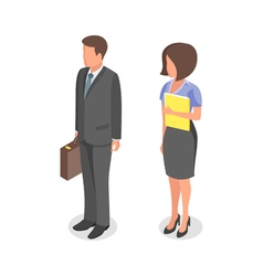 business people man and woman vector image