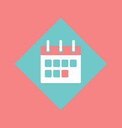 calendar with clipboard schedule events planner vector image