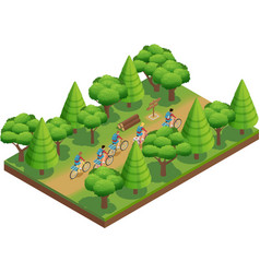 Camping Hiking Isometric Composition vector image