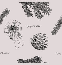 christmas concept hand draw sketch vector image