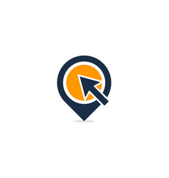 click point logo icon design vector image