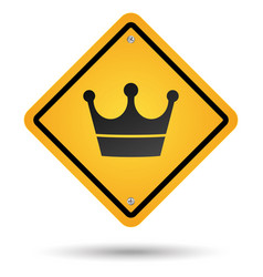 crown road sign vector image