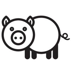 Cute animal pig vector image