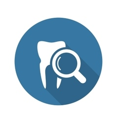 Dental care icon flat design vector